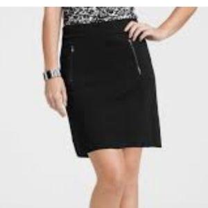 ANN TAYLOR🦄Ponte Zip Pocket Waffle Pencil Skirt